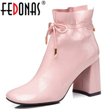 FEDONAS 패션 Women Butterfly-매듭 프릴 웨딩 자 Shoes Woman (High) 저 (힐 스퀘어 (times square) 발가락 Office 펌프 암 Martin Boots(China)