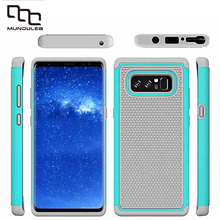 Mundulea 2 IN 1 Anti-slip Wave point Patter Coque Capa Active Silicone+PC Covers for Samsung galaxy S8 Plus S7 Edge Note 8 Case