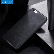 X-Level Vintage PU Leather Case For iPhone 6 6s 4.7inch Luxury Back Case Cover(China)