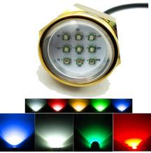 Waterproof IP68 RGB 27W Boat Drain Plug Light 9 LED Boat Light Underwater Boat Lamp