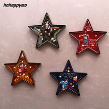 Five Pointed Star LED Signs Metal Plate Garage Bar Vintage Home Decor Light Box Plaque Retro Wall Decorative Plates Art Poster(China)