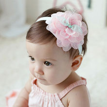 1 pcs Cute Kids Lovely Girls Lace Flower Hairband Headwear Headband Hair Band Accessories 2017 Hot Sale