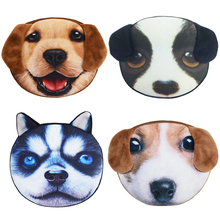 Wholesale Mini Coin Bags Promotion 3D Oval Animal Prints Women Storage Coin Pouch Cute Dog Wallets Kids Coin Purses