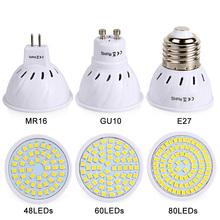 E27 Led Bulb GU10 MR16 Spotlight SMD2835 AC 220V 230V LED Lamp Super Bright Lights 48 60 80 LEDs Lamp Lighting For Home Decor
