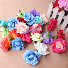10PCS,6.5CM Large Fabric Real Touch Silk Roses Heads,Wedding Flower Making,Bridal Bouquet Supplies,DIY Decoration accessories(China)