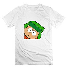 High Quality Personality O-Neck Men South Park Kyle T-Shirt Unique Humor Novelty Short Sleeve Tees