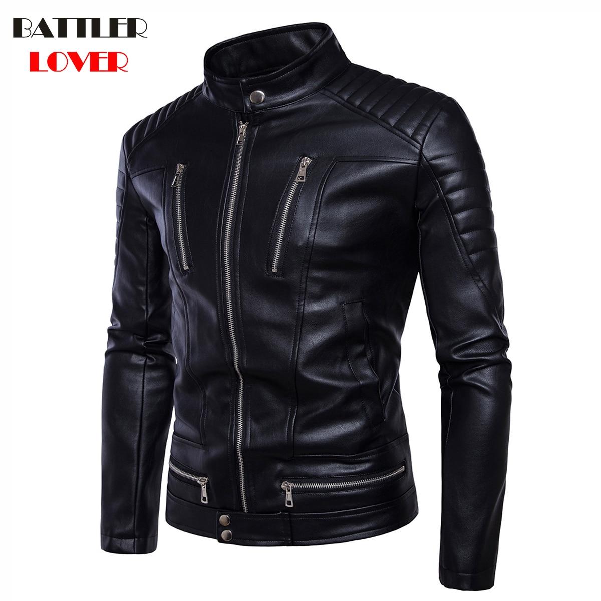 2018 Genuine Leather Jackets Mens Bomber Winter Motorcycle Jacket Men Natural Leather Windbreaker Moto Biker Coat Hombre Clothes