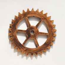 Wooden Crafts 18cm Mini Golden Gear Mural Bar Art Office Gear Wall Creative  Home Decor Ornaments