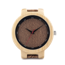 BOBO BIRD D16 Bamboo Wood Watch Men Wooden Grain Leather Band Scale Circle Japan Movement Quartz Watches for Men Gift Box