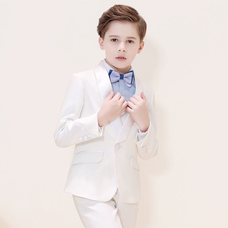 Baby boy suit flower girl dress children white small suit boy long sleeve suit wedding birthday party formal suit
