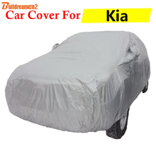 Buildreamen2 Car Cover Auto Outdoor Anti-UV Sun Rain Snow Dust Scratch Protection Cover For Kia Soul Optima Ceed K9 Picanto(China)