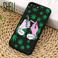 Шели травы листьев травы huf art design чехол для телефона чехол для iPhone 6 6S 7 8 X XR XS maxS SE samsung Galaxy S6 S7 край S8 S9 плюс(China)