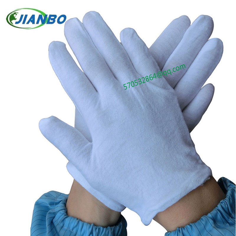 The white rite labor insurance gloves whole cotton elasticity text has fun to pull a dish bead public security to perform gloves<br><br>Aliexpress