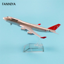 16cm American USA NWA Northwest Airlines Boeing 747 B747 Plane Model Alloy Airways Model Airplane Kids Intelligence Aircraft(China)
