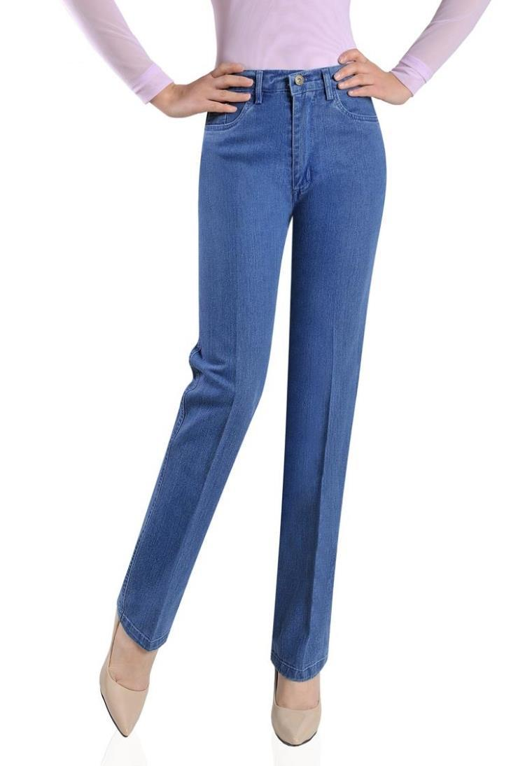 Free Shipping Women Spring Autumn Embroidered High Waist Bell Bottom Jeans Girls Elastic Boot Cut Trousers Plus Size Flare PantsОдежда и ак�е��уары<br><br><br>Aliexpress