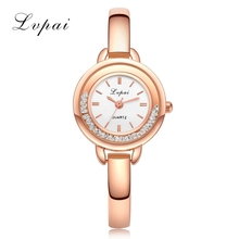 Lvpai Brand Casual Luxury Gold Watches Women Bangle Watch Female Fashion Crystal Quartz Bracelet Wristwatches Gift Watch