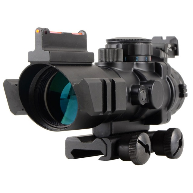 High Quality Tactical 4X32 Rifle Scope Fiber Sight &amp; illuminated Chevron Range Recticle New For 20 mm rail<br><br>Aliexpress