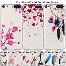 B67 Printed Pattern Rubber Case For iPod Touch 6 5 Soft Silicone Back Cover Funda For Alcatel One Touch Pop 3 5025D idol 3 6039Y