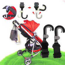 New Arrive 2Pcs Baby Infant Stroller Hook Holder Pram Double Rotate Hook Pushchair Hanger