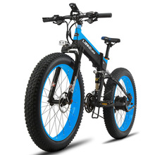 "Cyrusher T750 Folding Electric Fat Bike 500W 48V 10AH Li-Battery Full Suspension 27 Speeds 26"" 4.0 Fat Tyre Mountain Snow ebike(China)"
