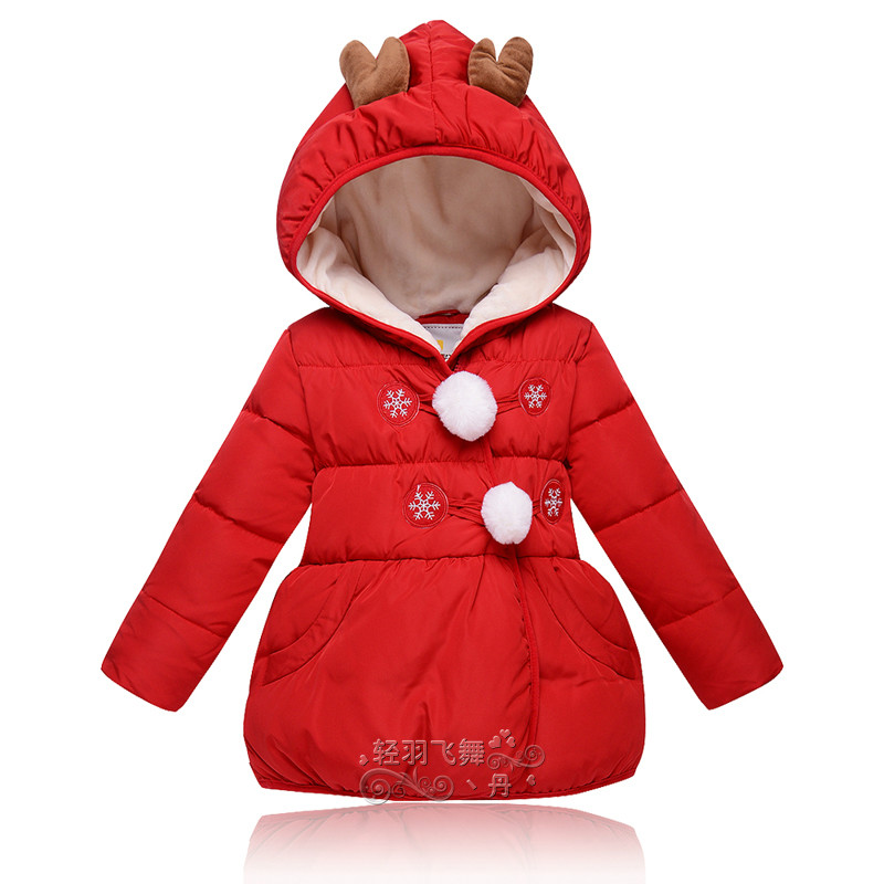 Mioigee 2017Winter jacket for girls Girls Spring Autumn Winter Coat  Padded Hooded Kids  clothes Children clothing Parkas  girl<br>