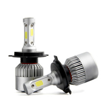 S2 H4 H7 H13 H11 H1 9005 9006 H3 9004 9007 9012 COB LED Headlight 72W 8000LM Car LED Headlights Bulb Fog Light 6500K 12V