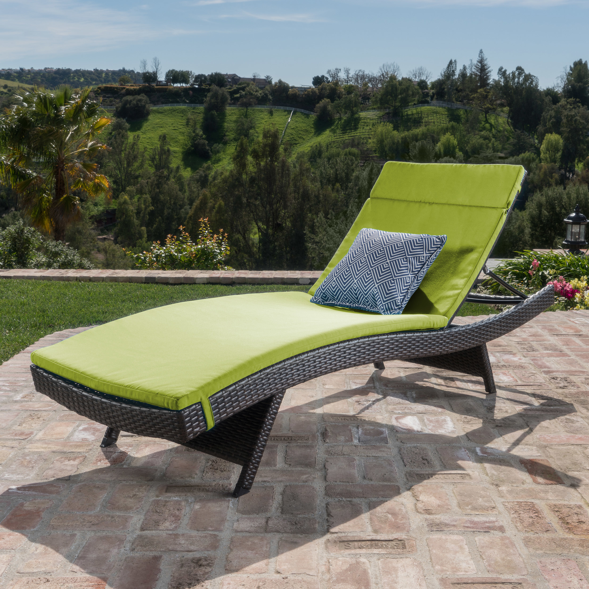 Lakeport Outdoor Adjustable Chaise Lounge Chair w/ Cushion (5)