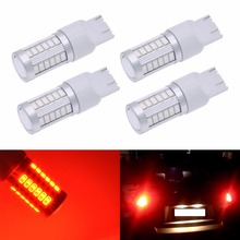 Katur 4x 7443 7440 7444NA 992 Led Car Light 5630 SMD 33 LED Bulbs Camper Corner Brake Backup Reserve Light White Red Amber Blue(China)