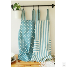 Cute Dot Adjustable Apron Bib Uniform With 2 Pockets Creative Stripe Kitchen Aprons Women Useful Cooking Aprons(China)