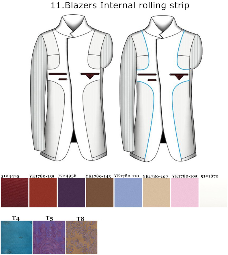 HTB1BFlRhm3PL1JjSZFxq6ABBVXa5 - Custom Made Men's Wedding Suits Groom Tuxedos Jacket+Pant+Tie Formal Suits Business Causal Slim Navy Plaid Custom Suit Plus Size