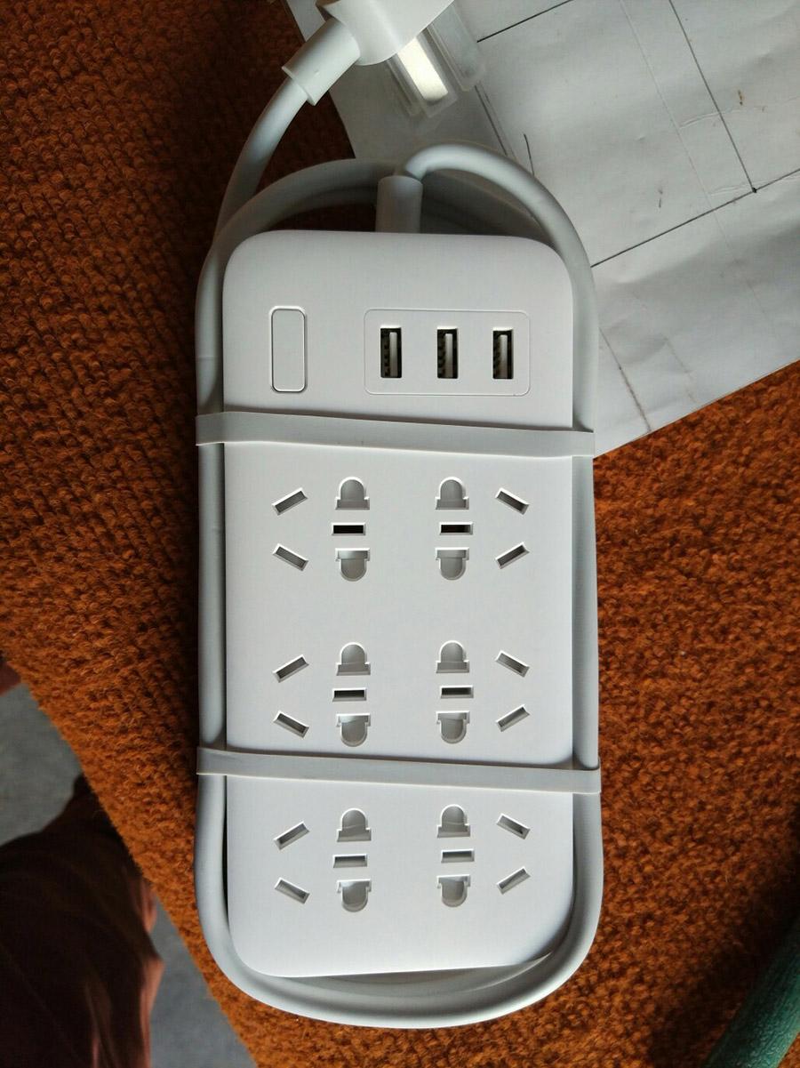 Original Xiaomi Smart Power Strip 2.1A Fast Charging 3 USB Extension Socket Plug 6 Standard Socket Adapter (21)