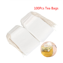 100Pcs Empty Tea Bags Heal Seal Filter String Paper Teabag Disposable Herb Loose Tea Bag For Green Puer Oolong Chinese Tea Cha(China)