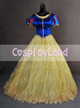 Deluxe Snow White and the Seven Dwarfs Adult Women Cosplay Costume Gown Dress Princess Party Dress Halloween Costume