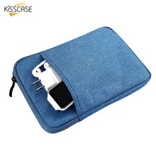 KISSCASE Canvas Sleeve Tablet Pouch Bag For iPad Mini 1 2 3 4 Soft Liner Full Protective Tablet Handbags For iPad Mini 1 2 3 4
