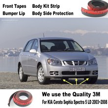 Car Bumper Lips For KIA Cerato Sephia Spectra 5 LD 2003~2008 / Body Kit Strip / Front Tapes / Body Chassis Side Protection