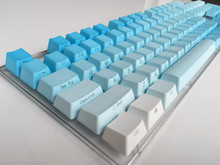 Side Print 104 key ANSI layout gradient Blue Thick PBT Keycap For OEM Cherry MX Switches Mechanical Gaming Keyboard