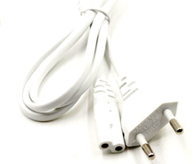 White Color1.5M Figure 8 C7 to EU Europe European 2 pin 2 prong Round Laptop AC Adapter Power Cord Power Cable(China)