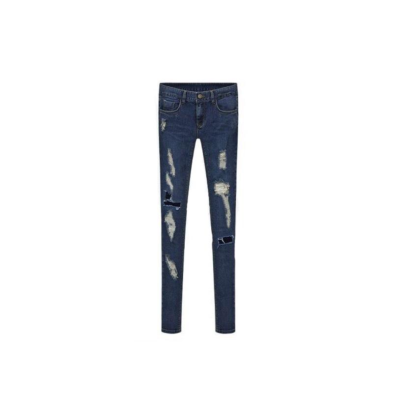 Women Pencil Pants 2017 New Arrival Fashion Plus Size Street Hole Jeans 5389Одежда и ак�е��уары<br><br><br>Aliexpress