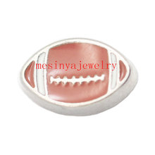 10pcs America football  floating charms for glass locket  Min amount $15 per order mixed items,FC-027