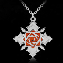 Anime Vampire Knight Rose Logo Metal Necklace Yuki Kaname Zero Yuuki Manga Necklace Charm Pendant(China)