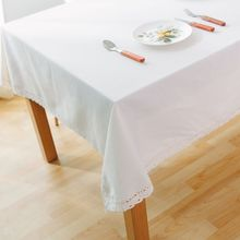 Fashion Solid Color Linen Table Cloth Tablecloths Universal Dust Cover Coffee Table Towel Picnic Mat Tablecloth