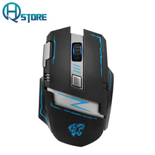 Wireless Rechargeable Silent Mouse V5 Gaming Mouse Mute Button 2400DPI High Quality Performance USB Opticial For Computer Laptop(China)