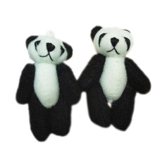"20pc Craft Mini Plush Teddy Bear Doll 6cm (2.4"")  Black-White Panda"