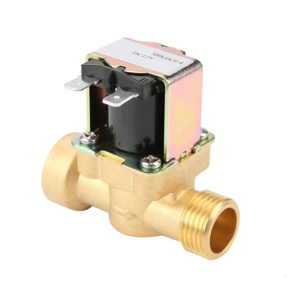 C 1//2 CC 12V vanne magnétique d/'eau en laiton de vanne électromagnétique de N
