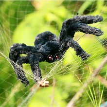 New Arrival Simulate Black Giant Hairy Spider Halloween Party Prop Decoration
