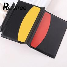 NEW Referee Red/Yellow Cards Wallet Pencil Notebook Set portable Sport Football equipment