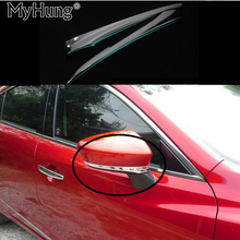 Rear view mirror cover mirror trim bezel Fit For Mazda 6 M6 Atenza 2014 2015 2016 2pcs per set car styling Exterior Accessories