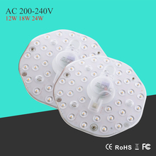 LED Light Board 220V 230V 240V Led Celling lamp Lighting 2835SMD 12W 18W 24W High Bright White Warm White Kitchen Bedroom Lights(China)