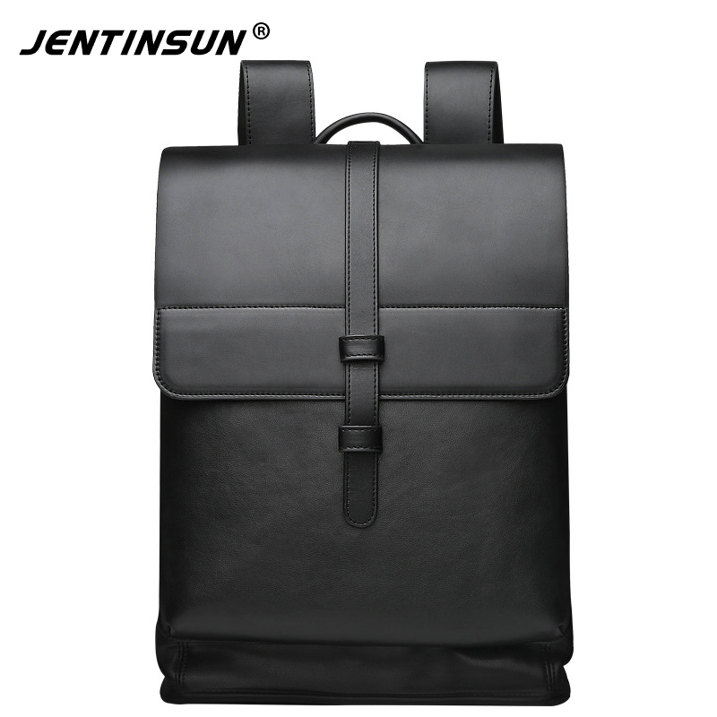 New Fashion Business Backpack Multifunctional Men Leather Laptop Backpack Large Capacity Casual Travel Bags School Bags For Tees<br>