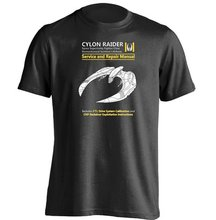 Cylon Raider Service And Repair Manual Battlestar Galactica Unisex Design T Shirt